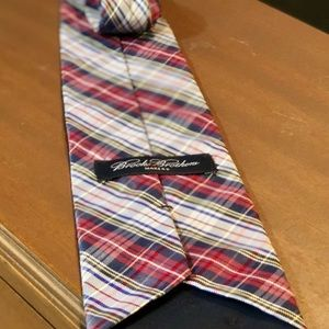 89ad3ab1d85a4 Brooks Brothers Accessories - Brooks Brothers Plaid Madras Navy Blue Red Tie